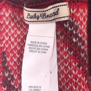 Lucky Brand Accessories - Lucky Brand infinity scarf red geo print acrylic